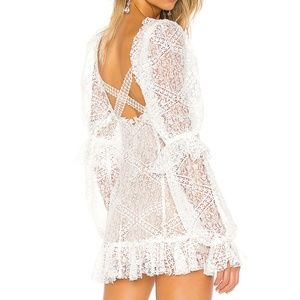 For Love and Lemons Sequoia Lace Mini Dress XS